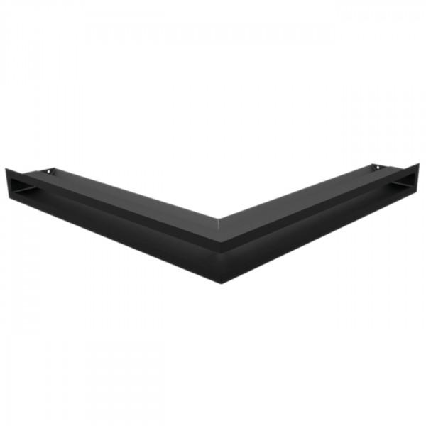 Eckluftleiste LUFT 56x56 cm Schwarz