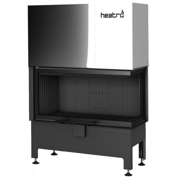 Heatro 81PH Black Eck-Kamineinsatz mit Hebetür 12kW rechtsverglast
