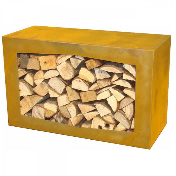 Woodbox - Holz-regal / Holzkiste / Holzkorb in Corten
