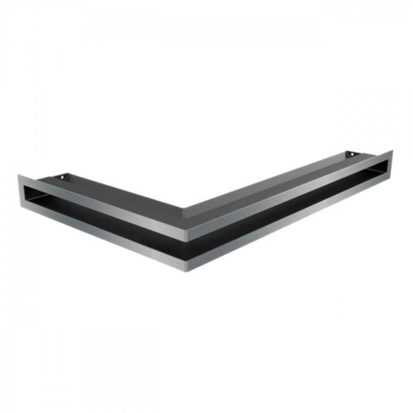 Eckluftleiste LUFT Rechts 55x77 cm geschliffenem Stahl
