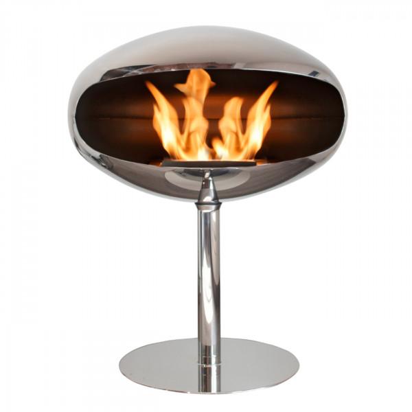 Cocoon Fires PEDESTAL Designer Ethanolkamin Edelstahl