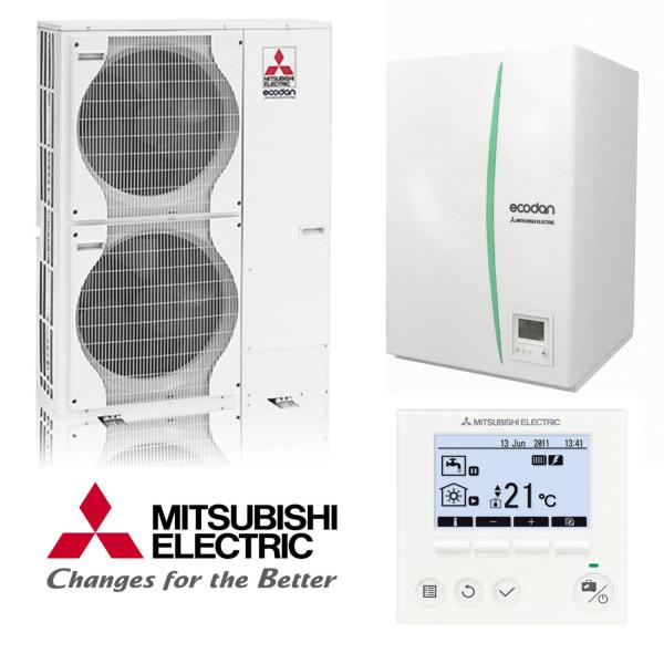 Mitsubishi Power Inverter Wärmepumpen-Set 4.5 Heizen/Kühlen 12 kw