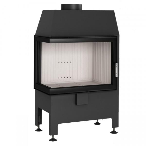 Heatro 55L Eck-Kamineinsatz 9kW linksverglast