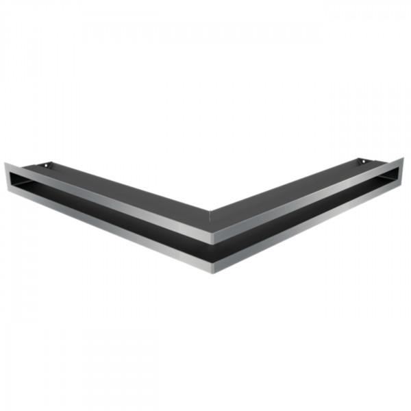 Eckluftleiste LUFT 56x56 cm geschliffenem Stahl