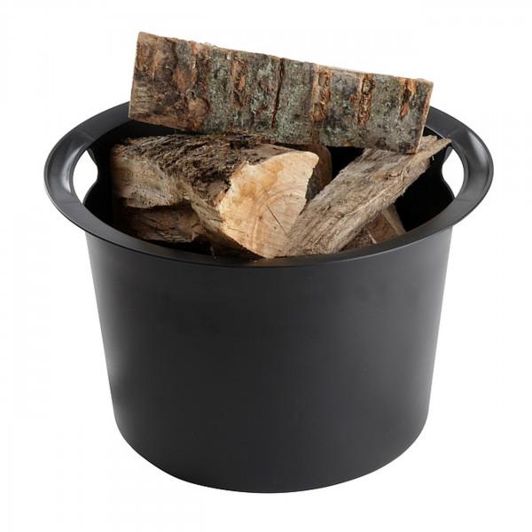 Kunststoff Einsatz in Schwarz für Proline Holzkorb Ø45