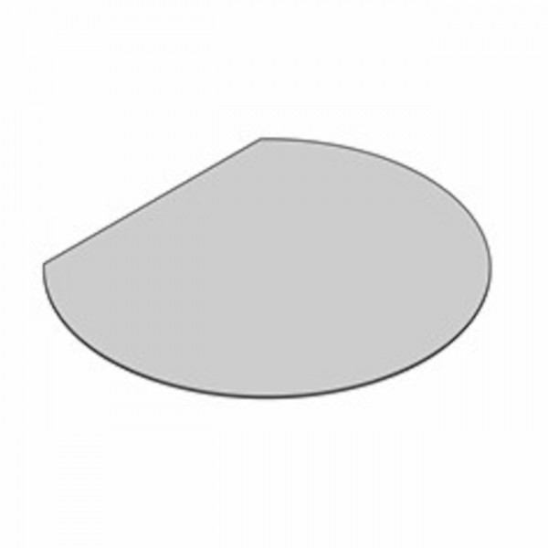 Glasbodenplatte Kreisabschnitt mit 1200x1050 mm