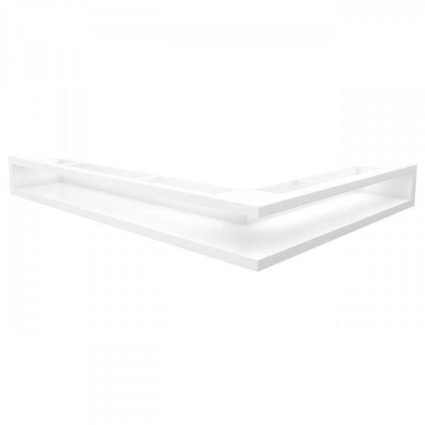 Eckluftleiste LUFT Links 77x55 cm Weiss