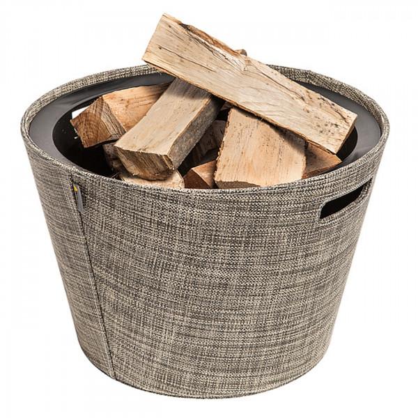 Proline Holzkorb / Aufbewahrungsbox PET in Khaki Melange Ø45