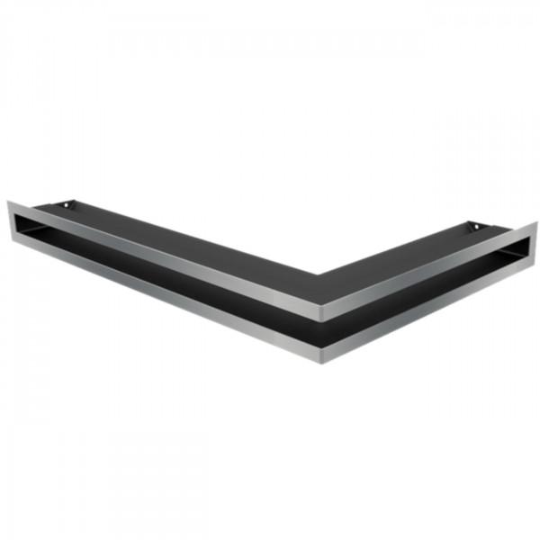 Eckluftleiste LUFT Links 60x40 cm geschliffenem Stahl