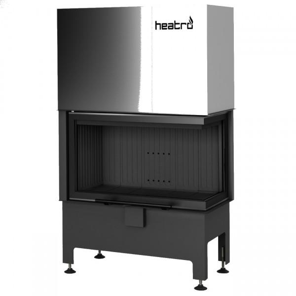 Heatro 69PH Black Eck-Kamineinsatz mit Hebetür 11kW rechtsverglast