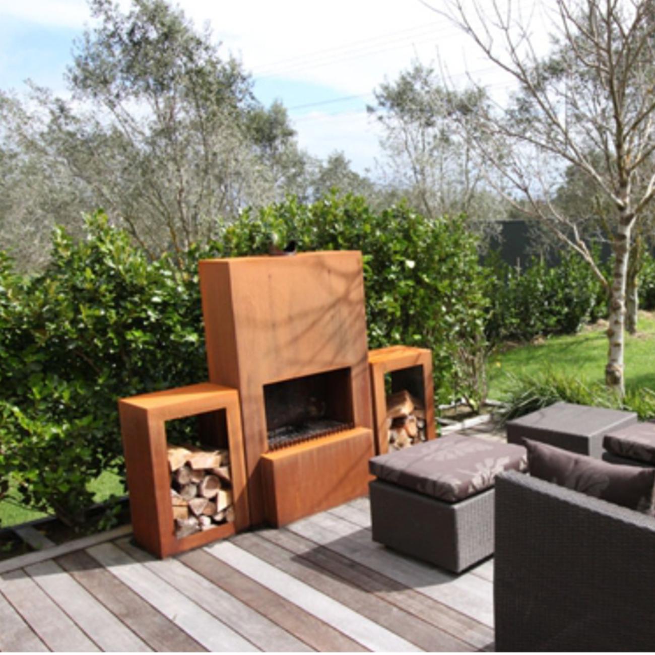 Outdoor Garten Kamin Feuersaule Pinacate In Corten Stahl