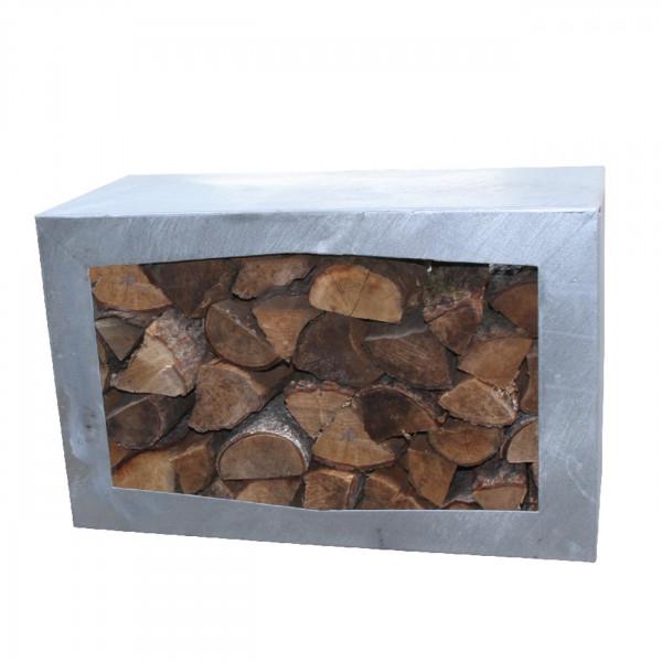 Woodbox - Holz-regal / Holzkiste / Holzkorb in Zinc