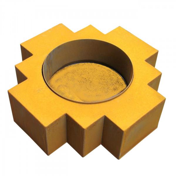 Feuerschale / Feuerkorb Inca Corten im Rostlook