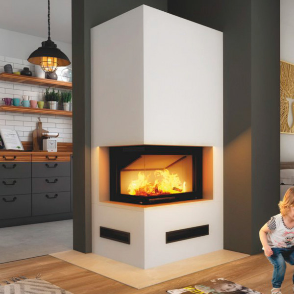 Imperial Medium Plus Kaminbausatz Smart 6kW Eckkamin Links