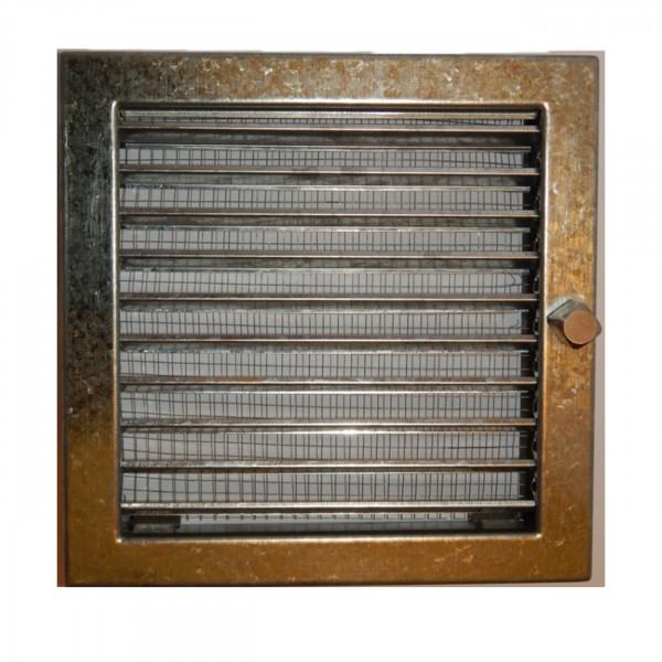 CB verstellbares Außenluftgitter quadratisch 23x23cm mit Insektenschutz