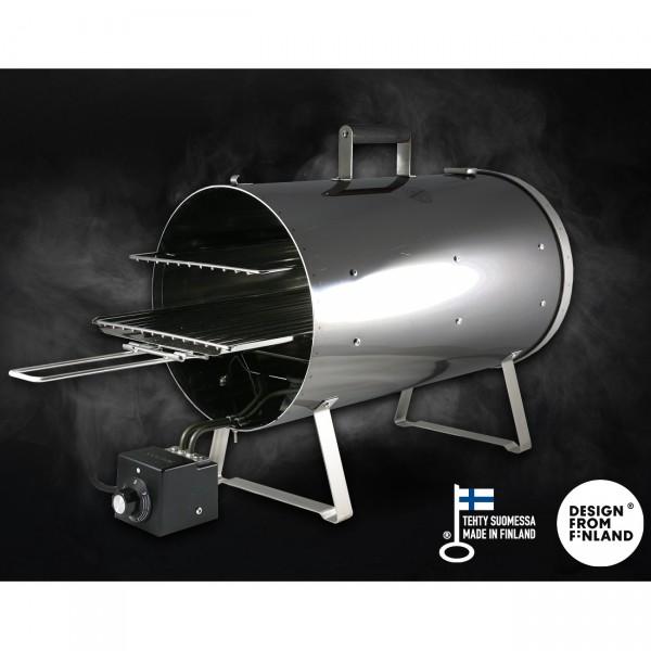 Muurikka Elektroräucherofen 1200W PRO Black Edition 28 cm Ø mit Leistungsregler