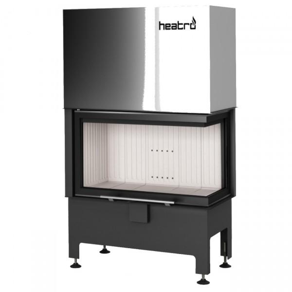 Heatro 69PH Eck-Kamineinsatz mit Hebetür 11kW rechtsverglast