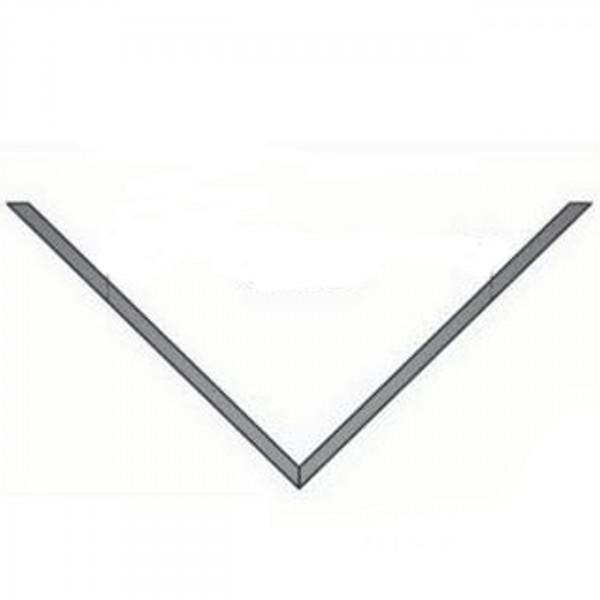 Eckwandrosette für Außenecke 50 mm Rand - 150 mm Ø