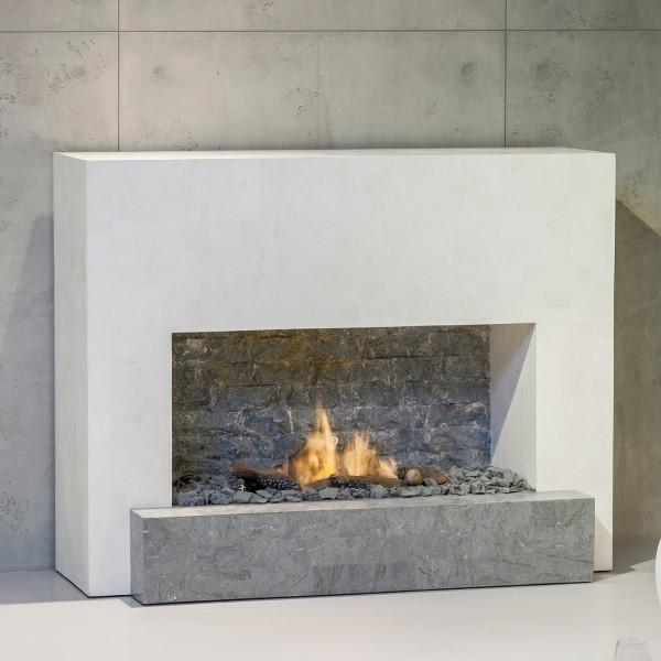 Santos Fossil Stone Bioethanol Kamin mit Keramik Brenner
