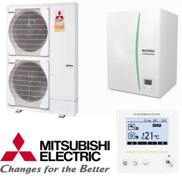 Mitsubishi Wärmepumpen-Set 7.5 mit Zubadan 14kW Wärmepumpe Monoblock