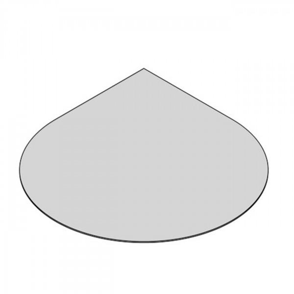 Glasbodenplatte Tropfenform mit 1100x1100 mm