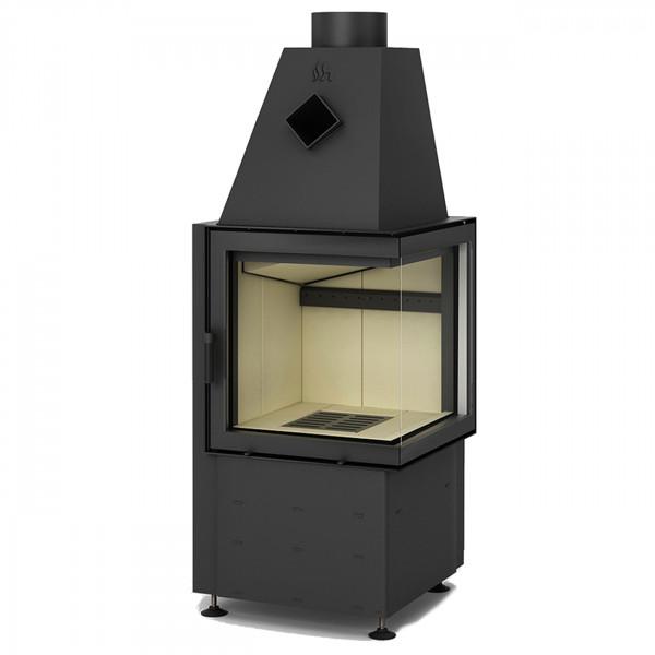 Smart 2P Warmluft-Eckkamineinsatz 7kW Rechtsverglast