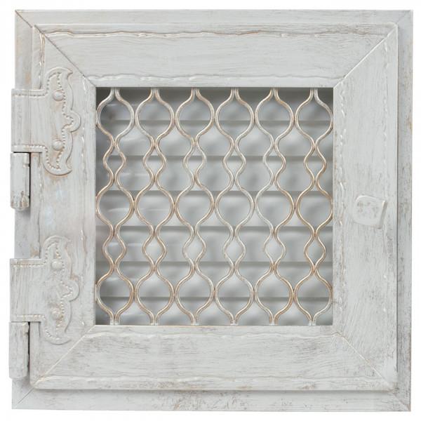 Retro Warmluftgitter weiß oder Graphit 24 x 24 cm - 237 cm²