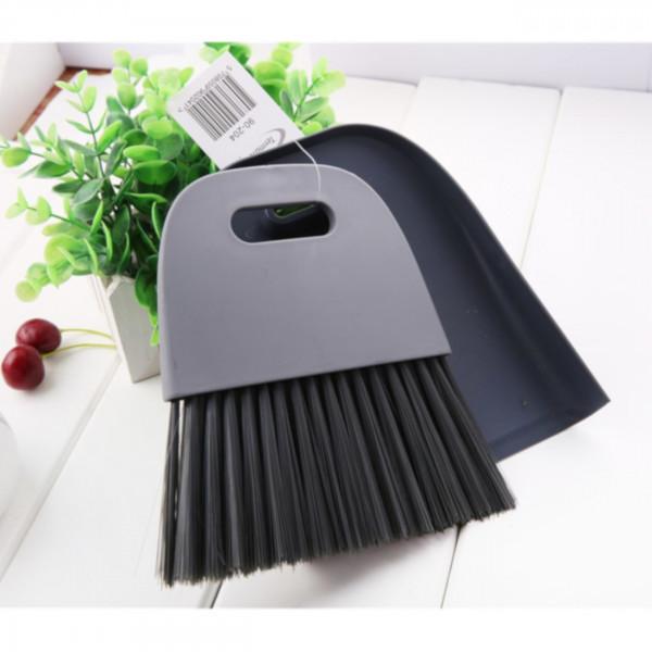 Kehrset / Handfeger/Schaufel aus Kunststoff dunkelgrau/grau