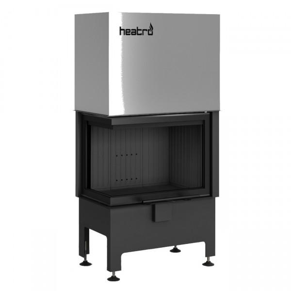Heatro 55LH Black Eck-Kamineinsatz mit Hebetür 9kW linksverglast