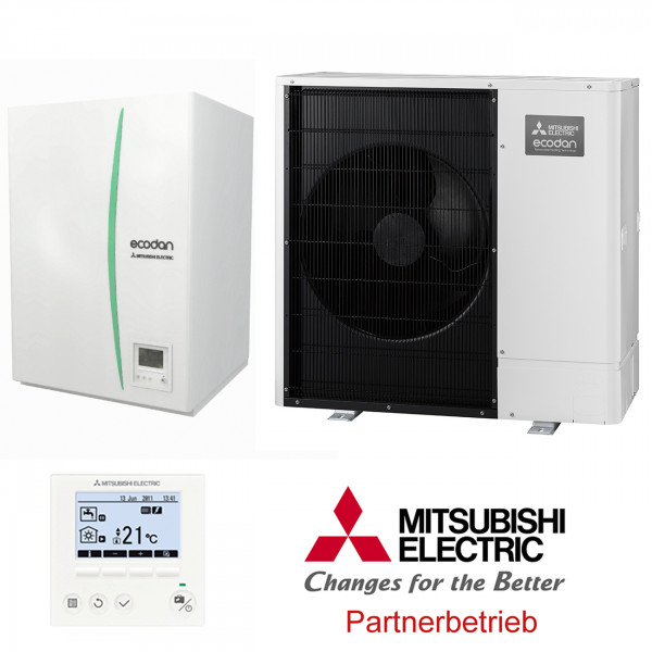 Mitsubishi Wärmepumpen-Set 7.61 Power Inverter 6kW Monoblock