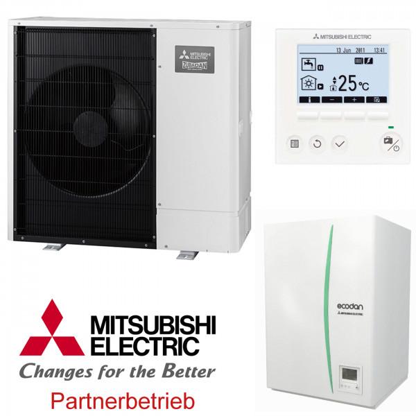Mitsubishi Zubadan 11 kW Wärmepumpen-Set 3.3 Hydromodul Heizen/Kühlen