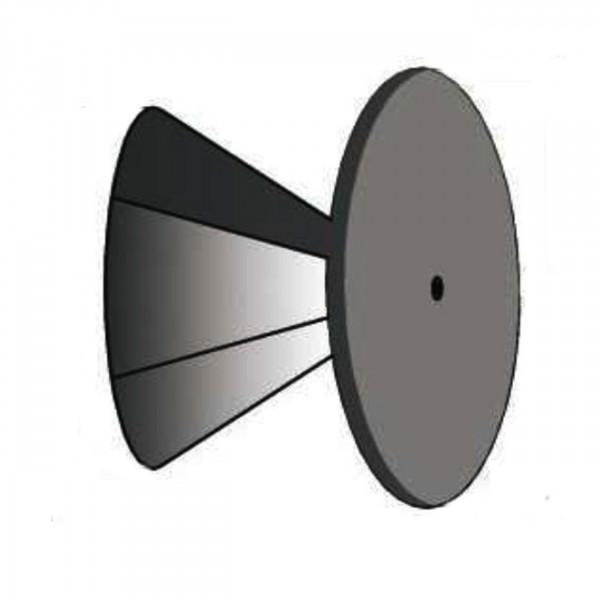 Verschlussdeckel für Schornstein Öffnungen mit 100 bis 150mm Ø verzinkt