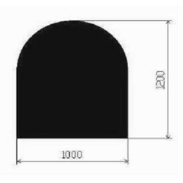 Metallbodenplatte Halbrund 1000x1200 mm