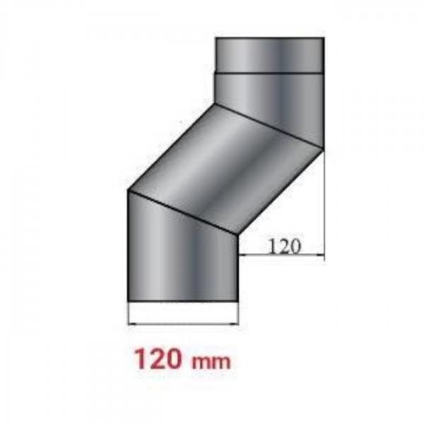 Versatzbogen 120 mm Länge 370 mm - 120 mm Ø