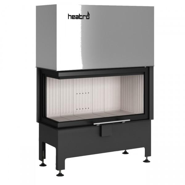 Heatro 81LH Eck-Kamineinsatz mit Hebetür 12kW linksverglast