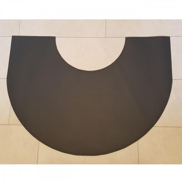 Teppich/Bodenplatte aus Ökoleder in Schwarz - Sonderanfertigung
