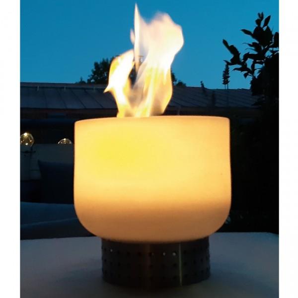 Ethanol Quarzglas Feuerschale Tischkamin