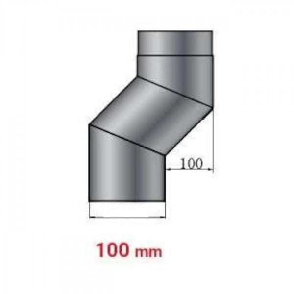 Versatzbogen 100 mm Länge 305 mm - 150 mm Ø