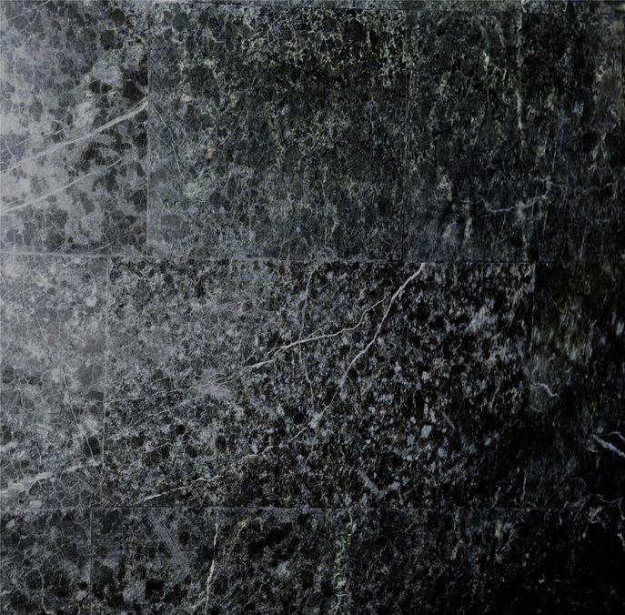Materialmuster-Fossilstein-schwarz-poliert